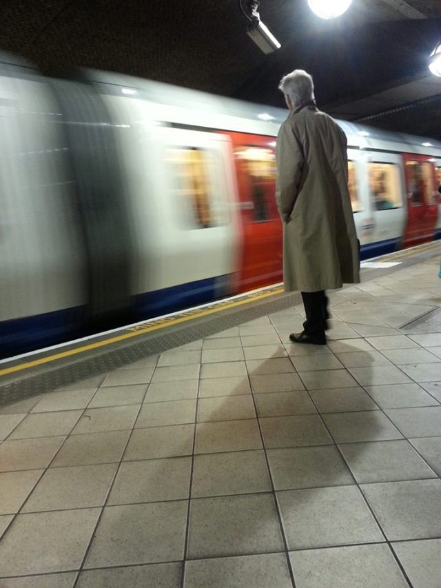 Man waiting for the underground
