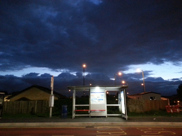 Bus stop in Thamesmead