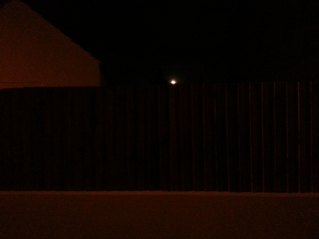 The moon, the house and the fence