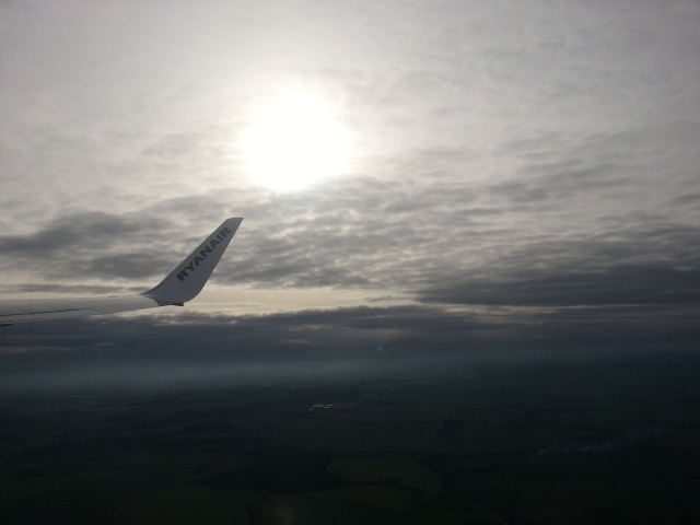 Flying above England