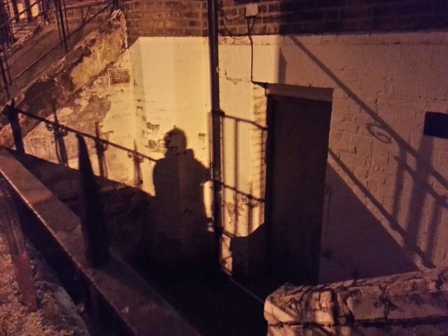 My shadow in Stoke Newington